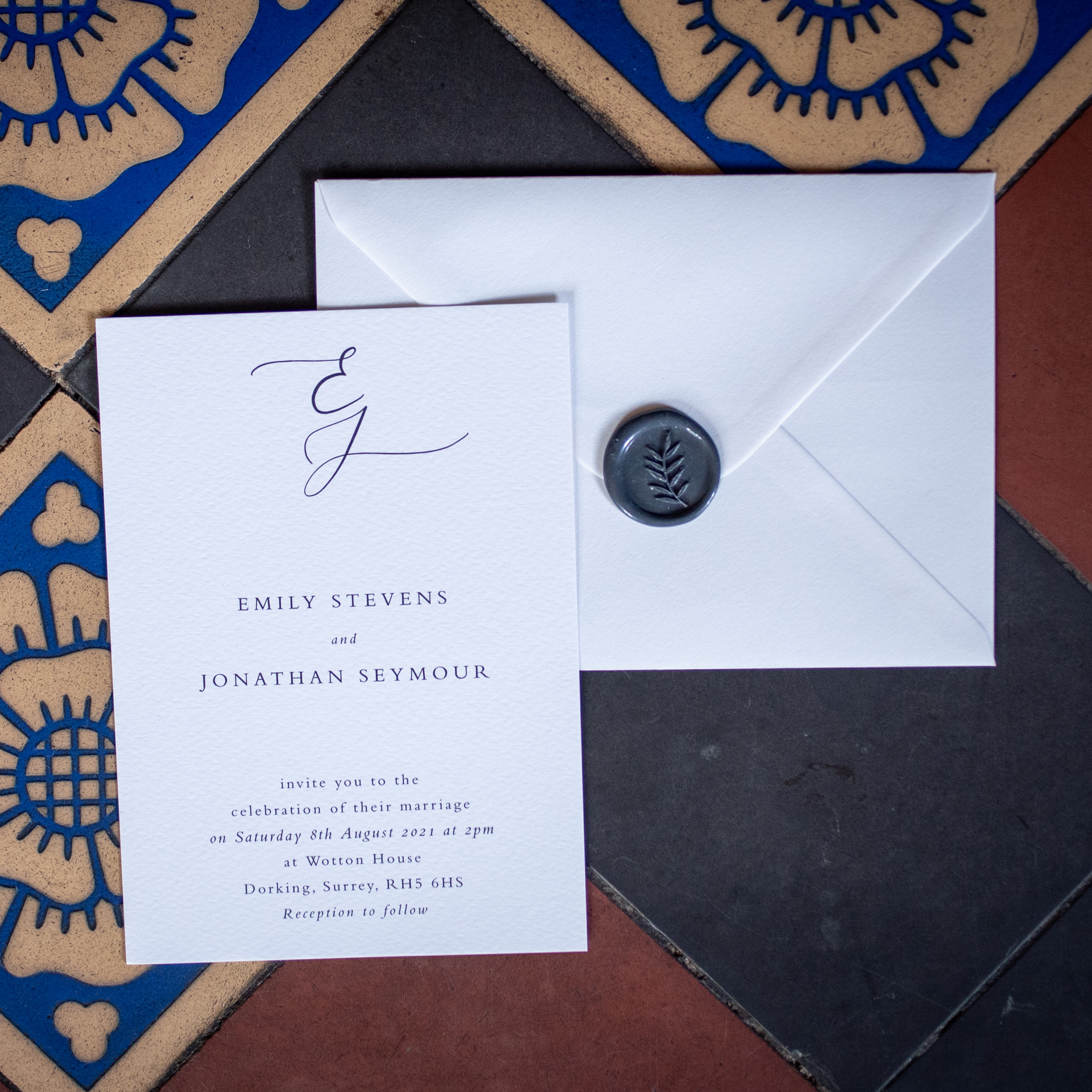 Hayley B Weddings, Wotton House recommended Surrey stationery supplier