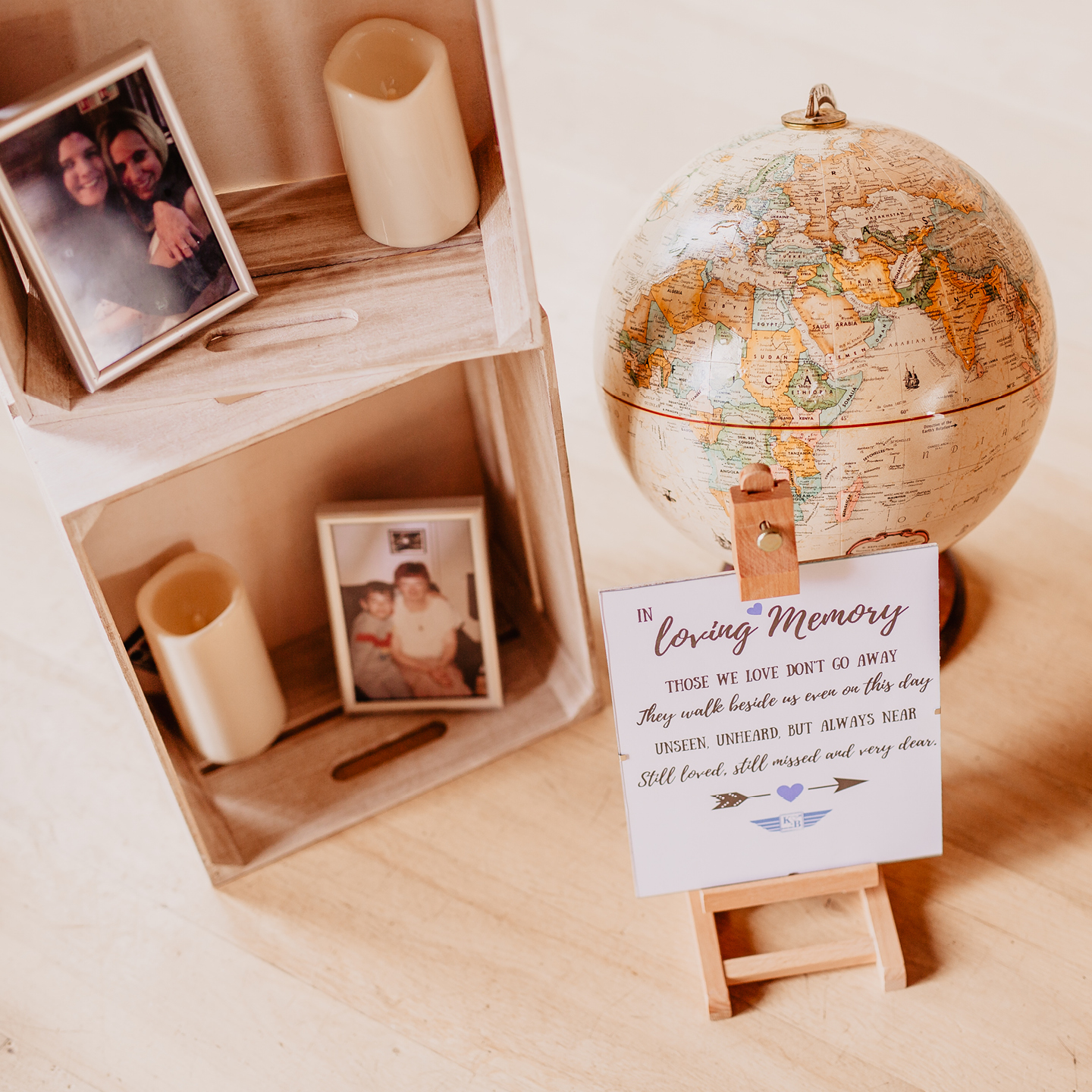 Ideas for an intimate wedding, in memory of wedding