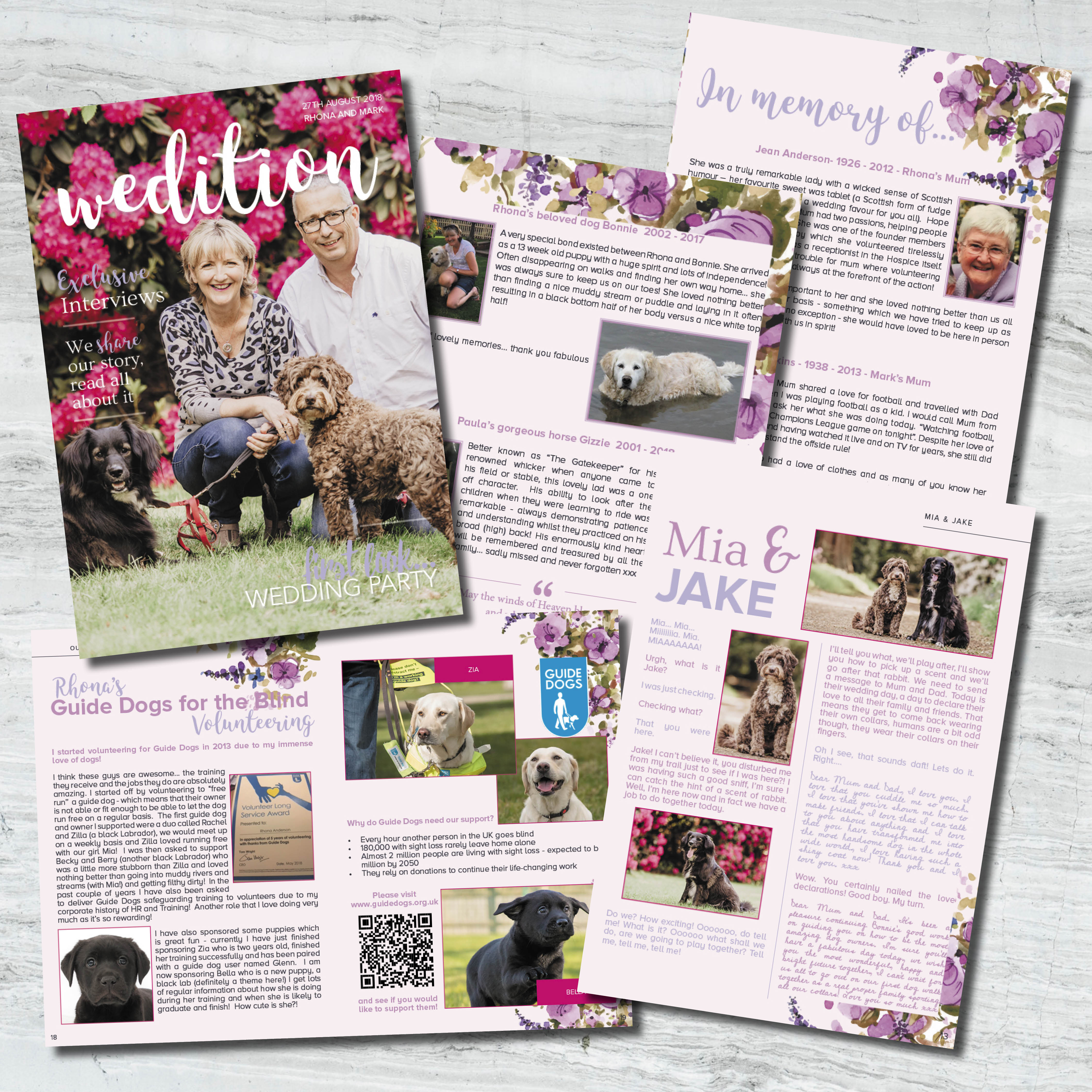 animal wedding stationery, Making your pet a memorable part of your wedding day, guide dogs for the blind wedding