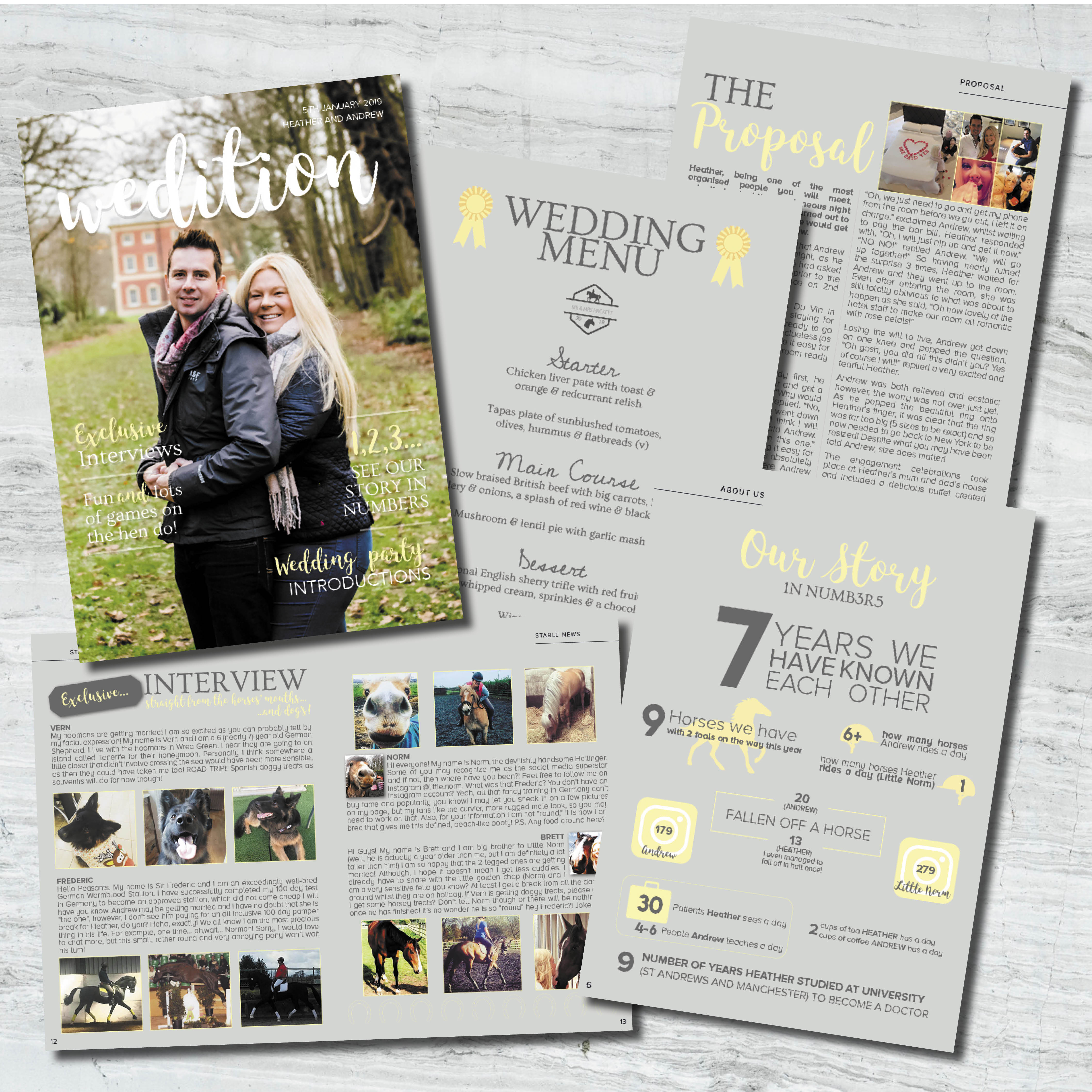 animal wedding stationery, Making your pet a memorable part of your wedding day, horses and dogs at weddings