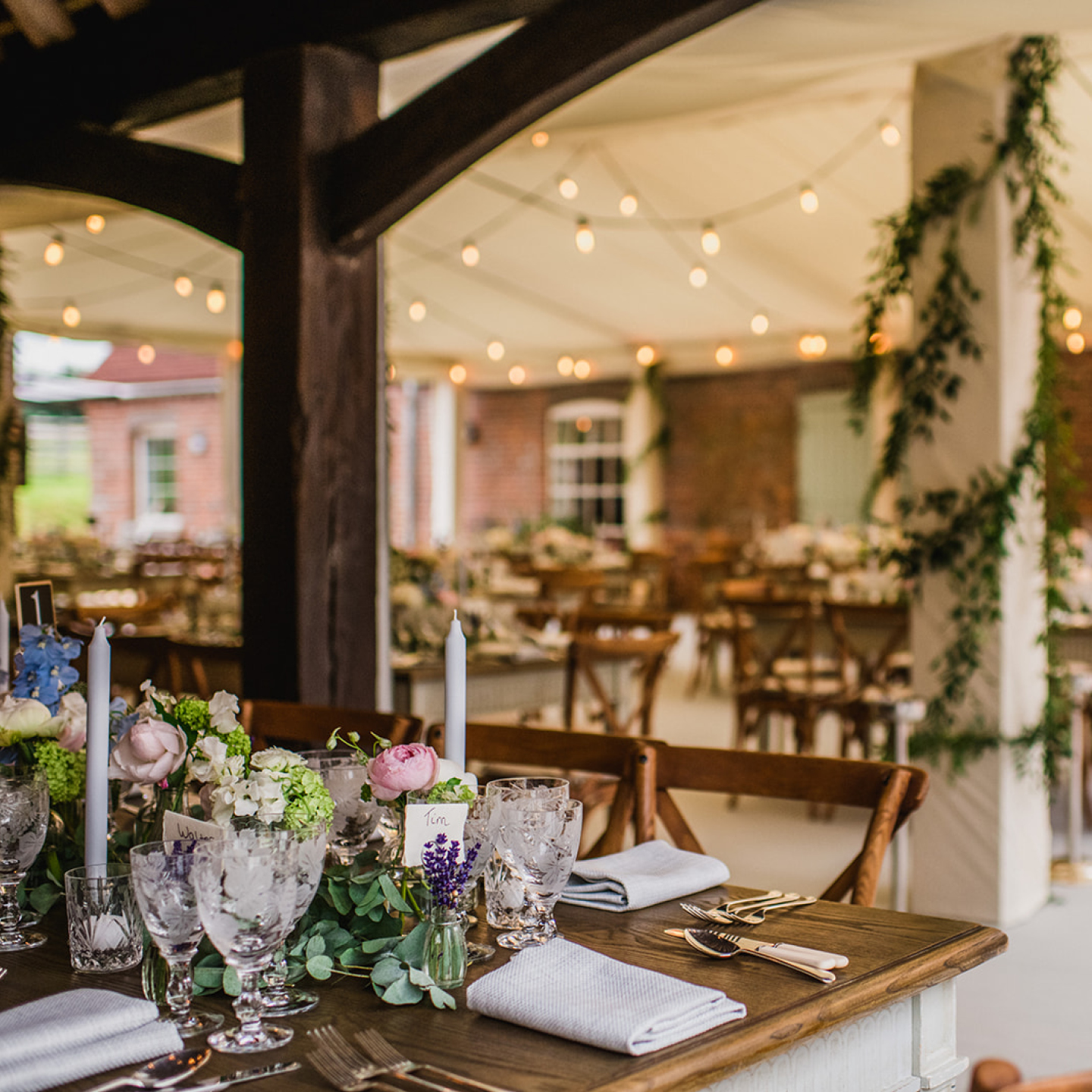 Marquee wedding venues family home