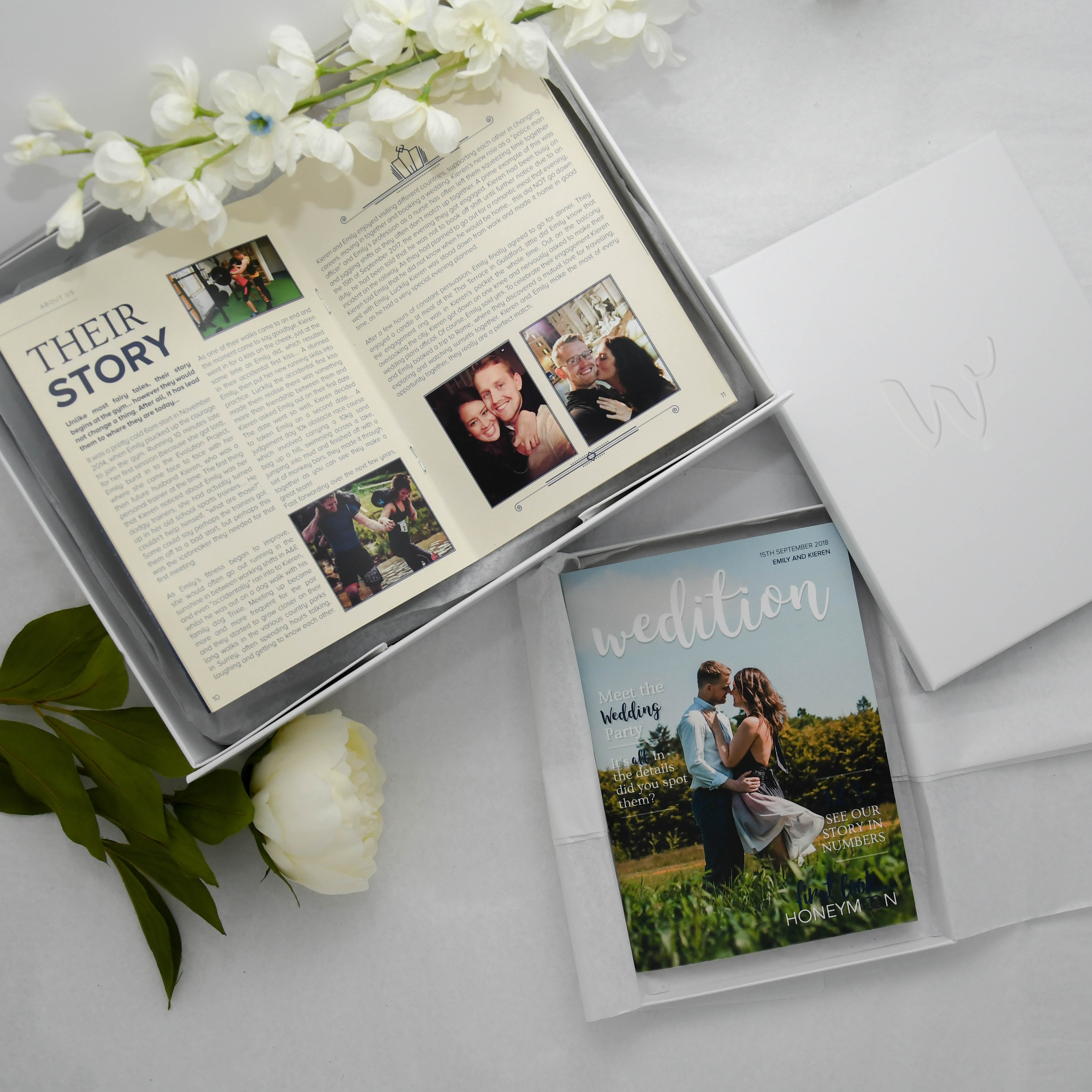 Micro wedding guest list, personalised magazine for micro wedding guests
