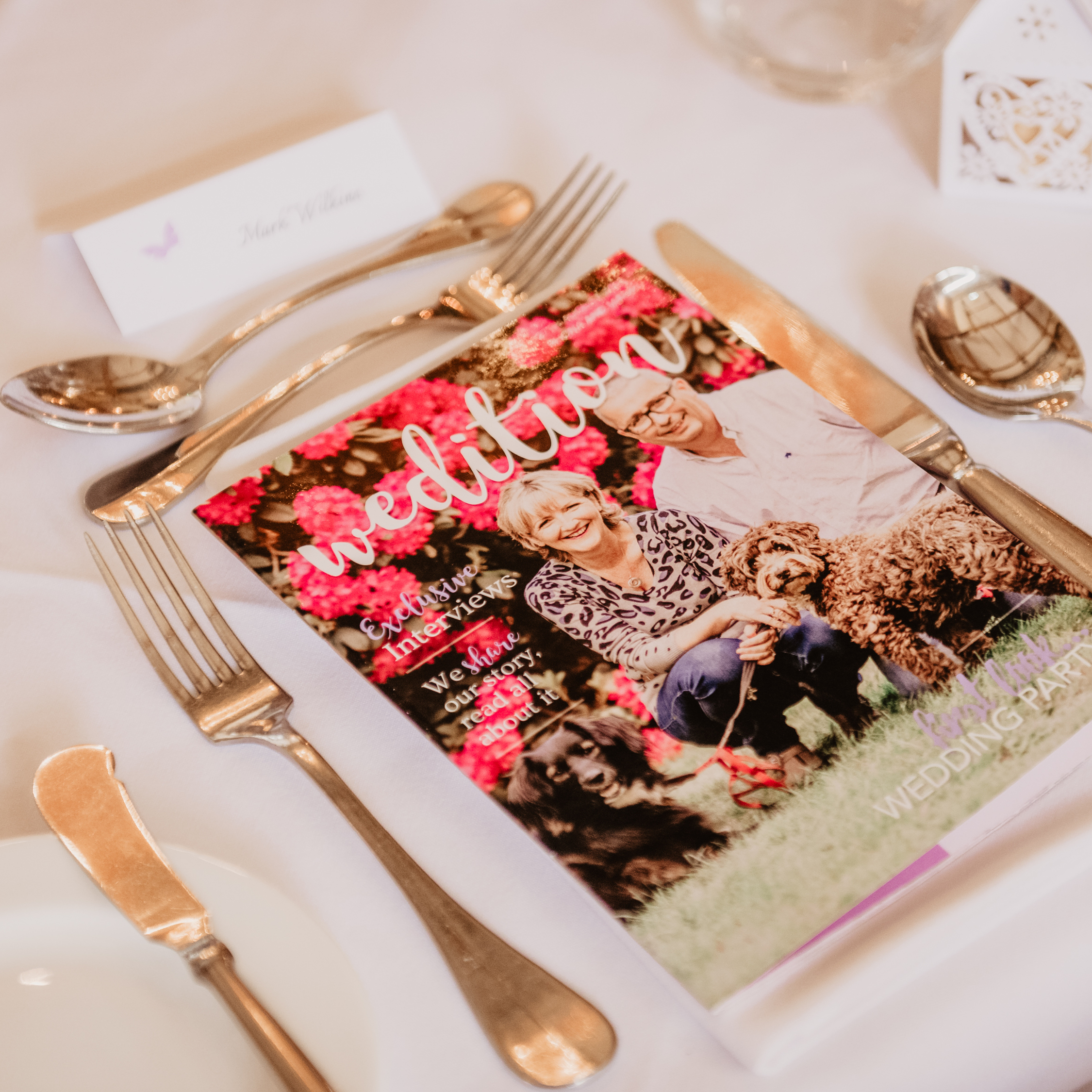 Perfect Wedding Day Smile, personalised wedding magazine