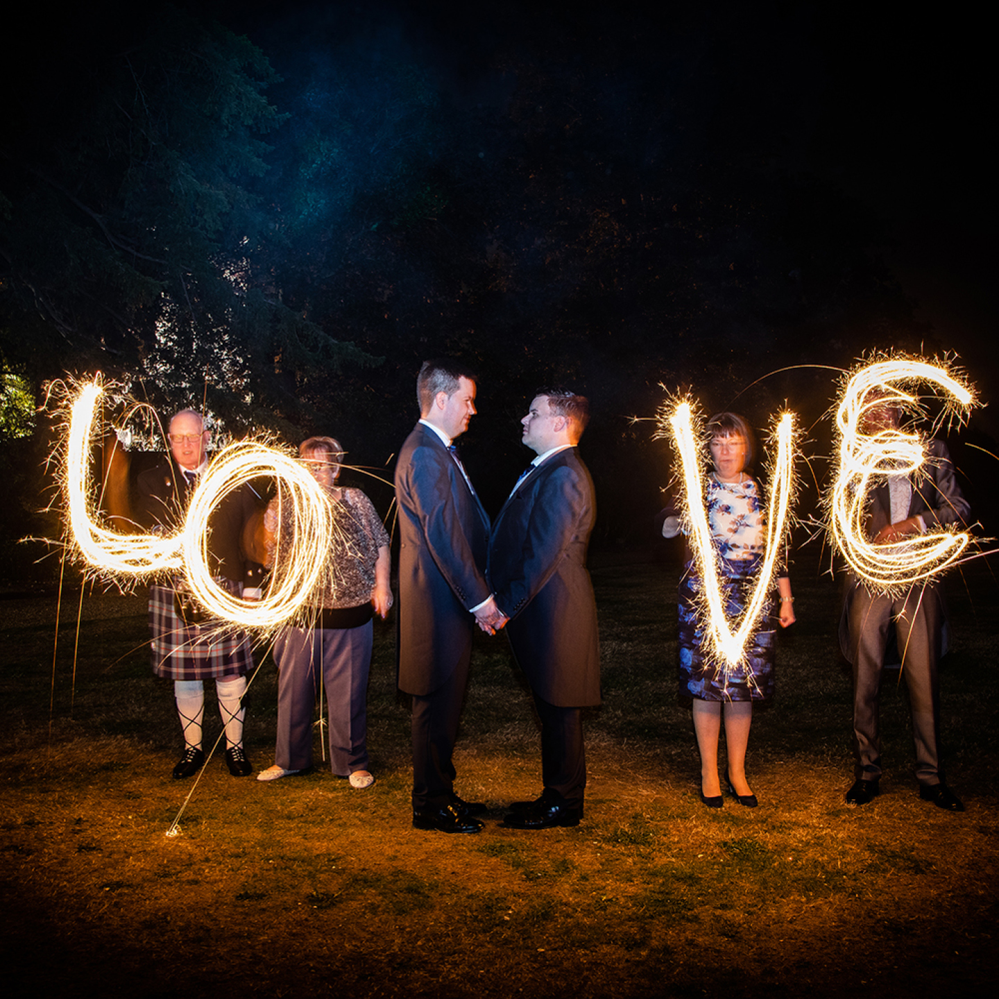wedding sparklers at The Elvetham