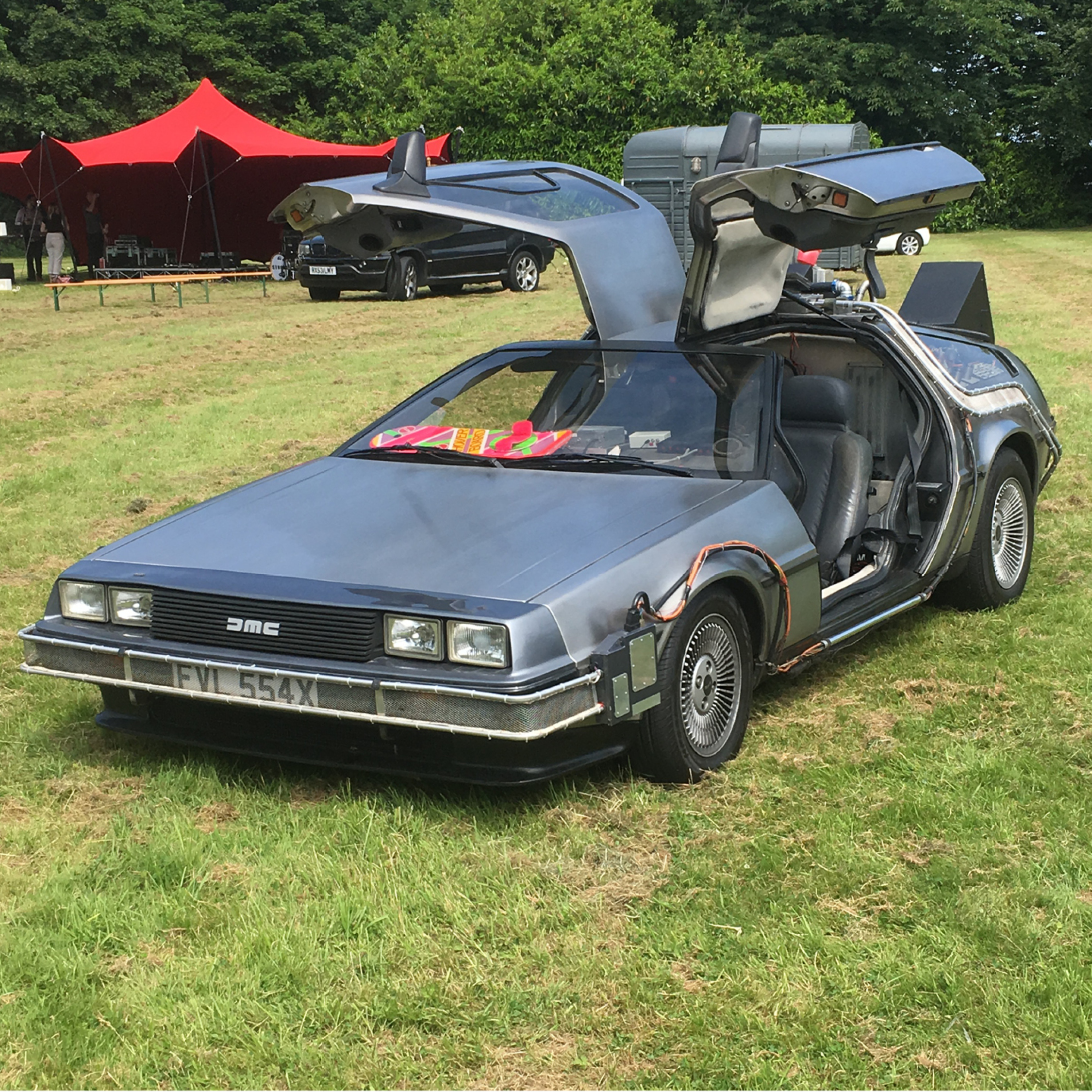 Wedding cars and coaches, wedding transport, back to the future car, time machine car