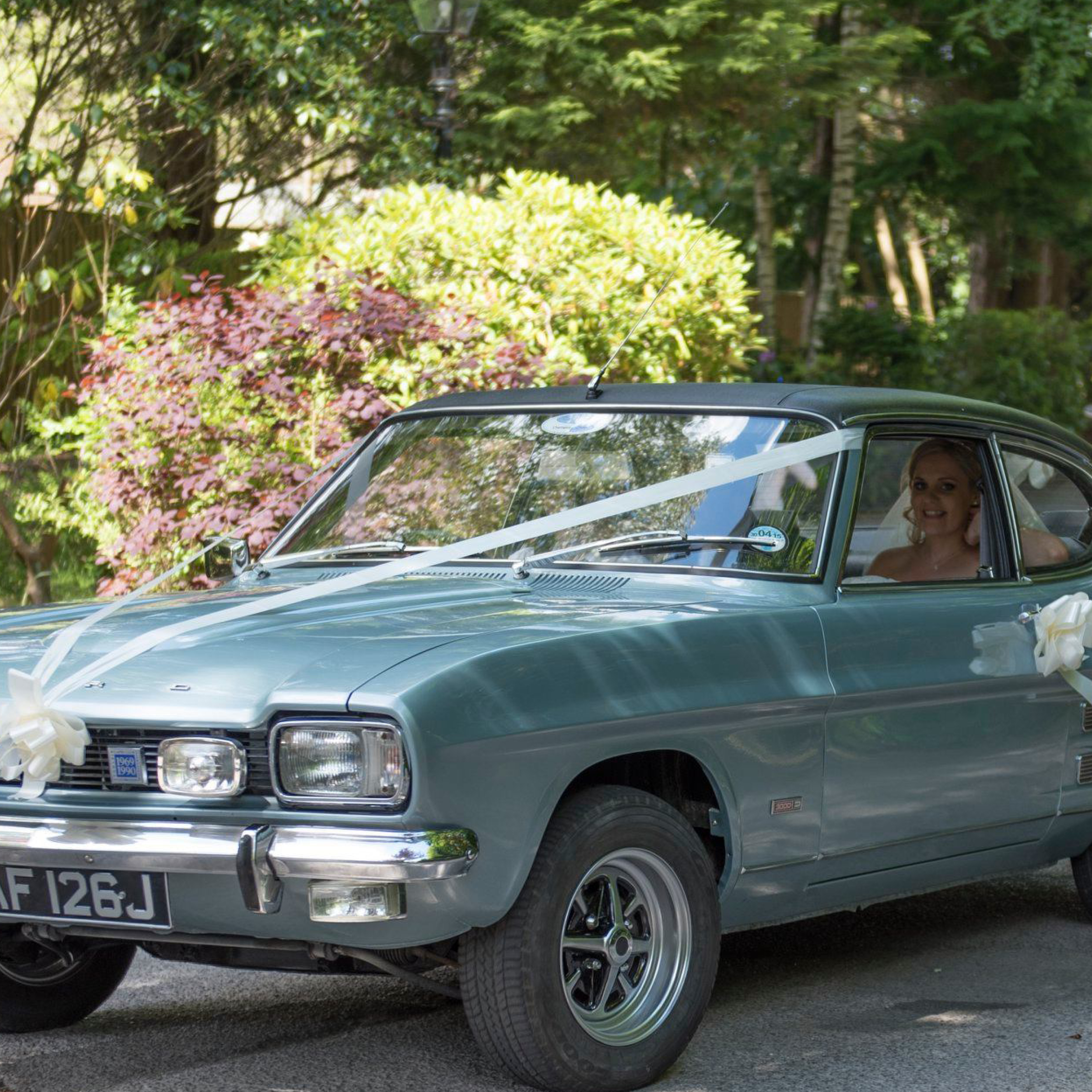 Wedding cars and coaches, wedding transport, ford capri mark 1