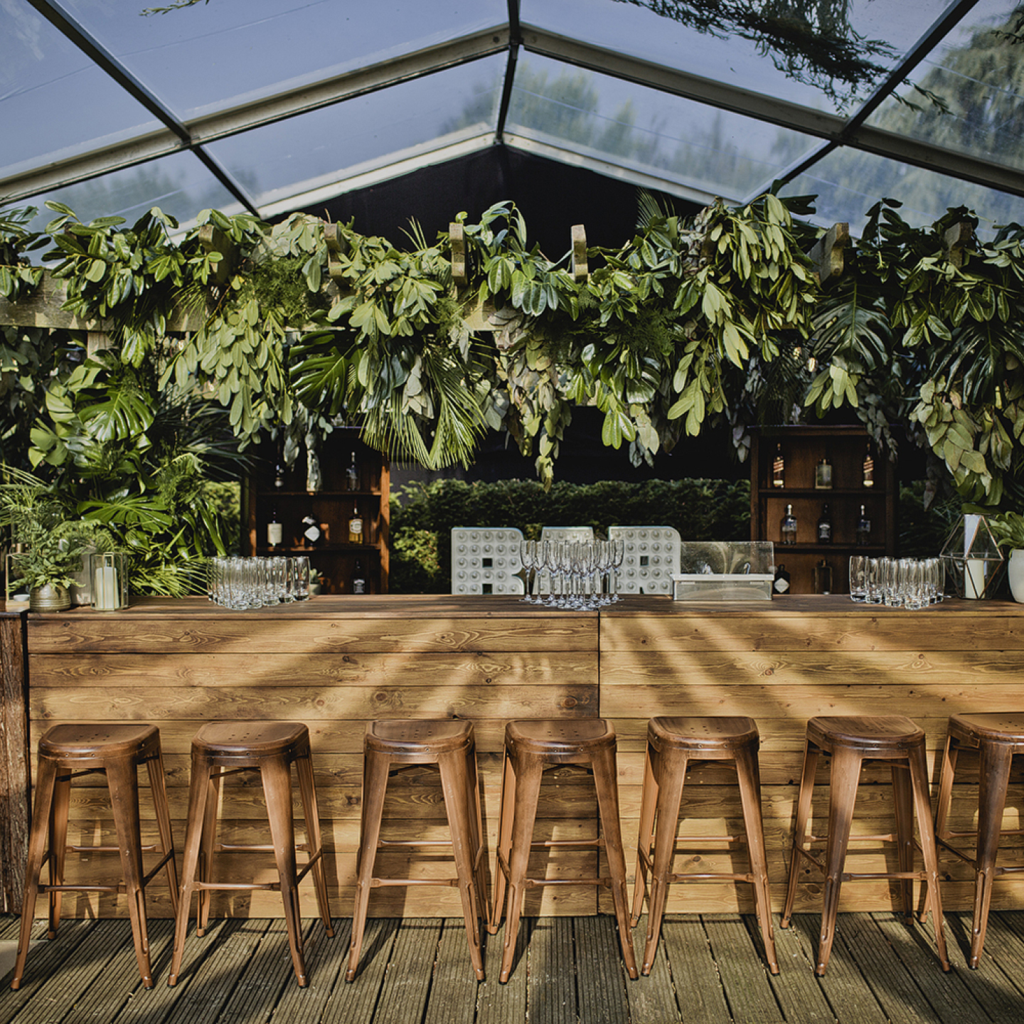 Wedding marquee hire bars