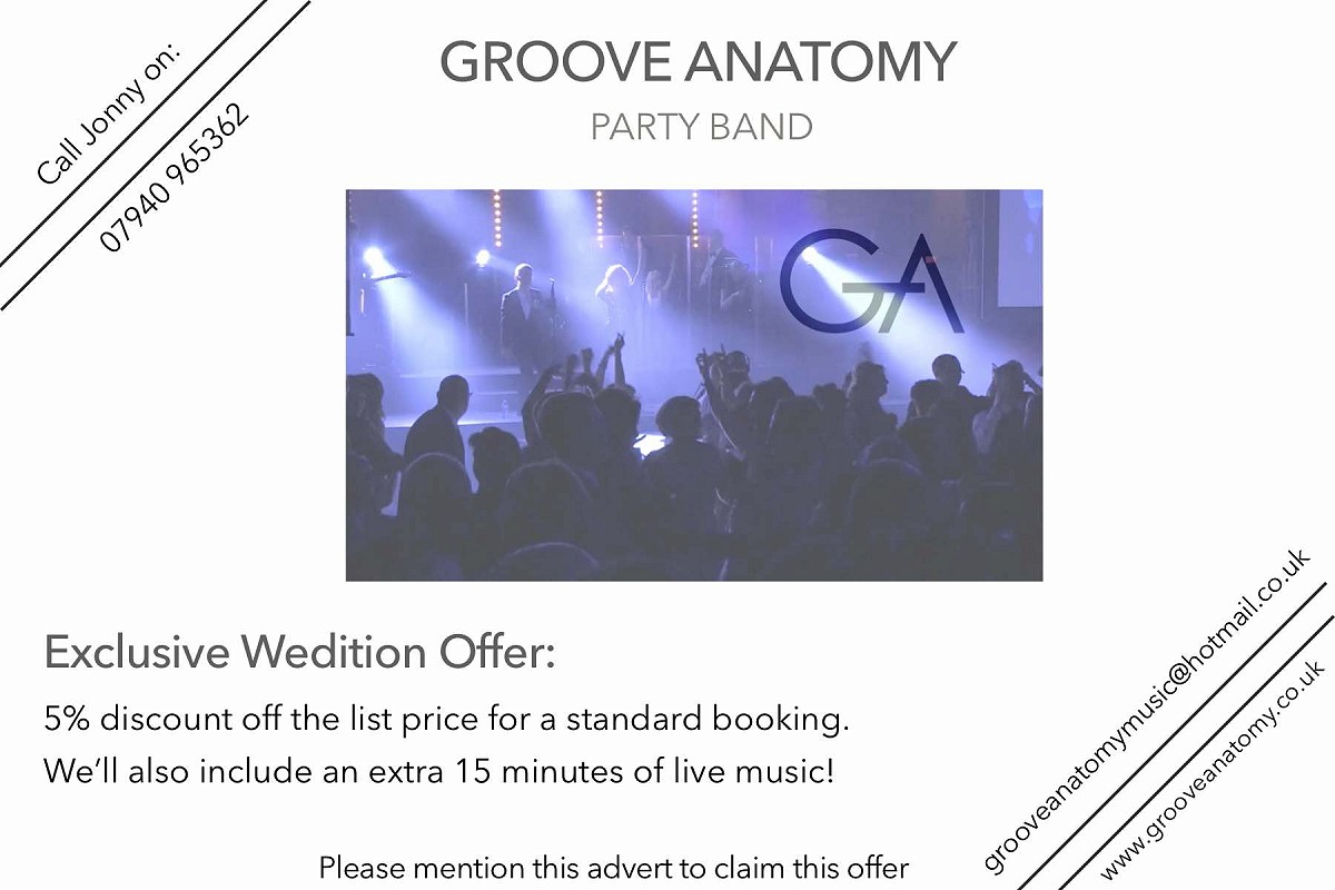 Wedition Deal: 5% Discount – Groove Anatomy